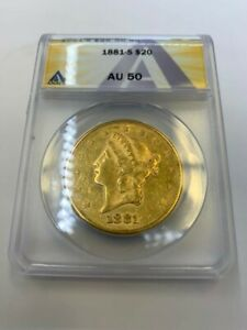 1899 S $20 US.GOLD LIBERTY DOUBLE EAGLE   ANACS CERTIFIED AU50