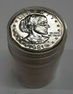 Click now to see the BUY IT NOW Price! 1981 D $1 SUSAN B. ANTHONY DOLLAR BU ROLL 20 COINS