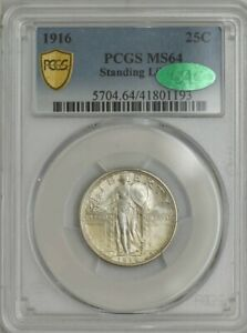 Click now to see the BUY IT NOW Price! 1916 STANDING LIBERTY QUARTER 25C MS64 PCGS SECURE CAC 943689 2