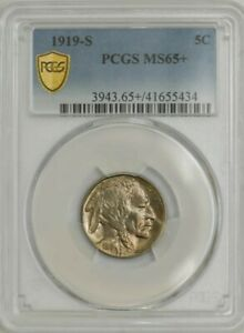Click now to see the BUY IT NOW Price! 1919 S BUFFALO NICKEL 5C MS65  PCGS SECURE 943609 1