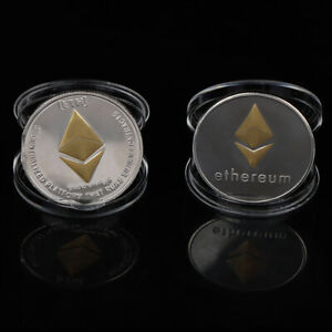 METAL ETHEREUM COIN COMMEMORATIVE COIN ART COLLECTION GIFT COMMEMORATIVE COIN