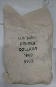 Click now to see the BUY IT NOW Price! 1980 D SUSAN B ANTHONY $1 DOLLAR COIN OFFICIAL MINT BAG STILL UNOPENED