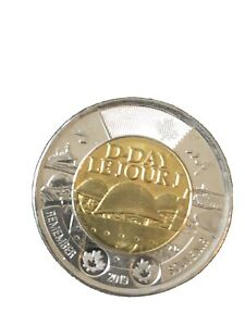 CANADA 2019 2 DOLLAR D DAY UNCOLOURED CANADIAN TOONIE