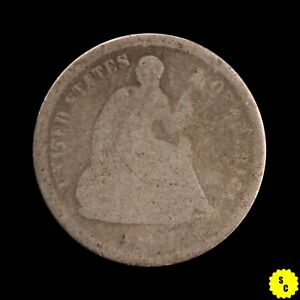 1860 O SEATED LIBERTY HALF DIME AG CONDITION NEW ORLEANS OBSOLETE SILVER 9