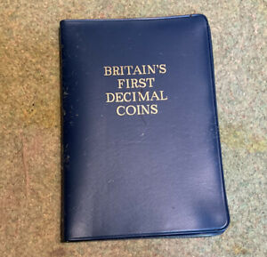 BRITAINS FIRST DECIMAL 5 COIN SET 1971/1968 UNCIRCULATED CONDITION