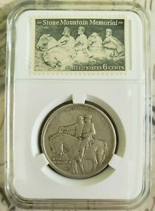 1925 P STONE MOUNTAIN COMMEMORATIVE HALF DOLLAR WITH MEMORIAL 6 CENT STAMP