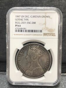 Click now to see the BUY IT NOW Price! NGC PR61 GREAT BRITAIN UK 1847 QUEEN VICTORIA GOTHIC PROOF SILVER COIN 1 CROWN
