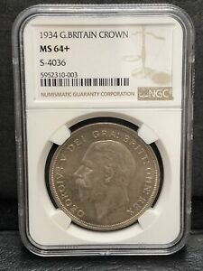 Click now to see the BUY IT NOW Price! 1934 GREAT BRITAIN CROWN NGC MS 64