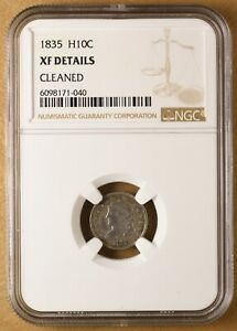 1835 CAPPED BUST HALF DIME NGC XF DETAILS