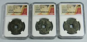 Click now to see the BUY IT NOW Price!  3  COIN LOT EMPEROR HUIZONG OF CHINA  1101 1125  10 CASH  NGC GENUINE
