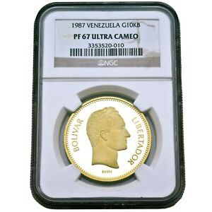 Click now to see the BUY IT NOW Price! VENEZUELA 10000 BOLIVARES GOLD COIN ULTRA CAMEO PF 68 PACHANO NGC  MOROCOTA