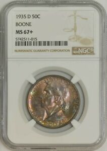 Click now to see the BUY IT NOW Price! 1935 D BOONE HALF 50C MS67  NGC 942887 7