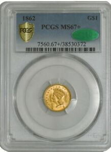Click now to see the BUY IT NOW Price! 1862 $ GOLD INDIAN MS67  SECURE PLUS PCGS   CAC 941926 19