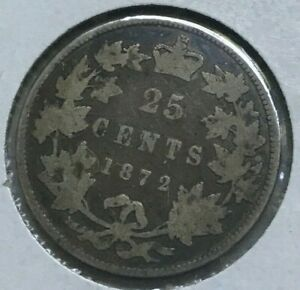 Click now to see the BUY IT NOW Price! 1872 H CANADA 25 CENTS