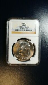 1974 D EISENHOWER DOLLAR NGC MS65 GEM IKE $1 COIN PRICED TO SELL NOW