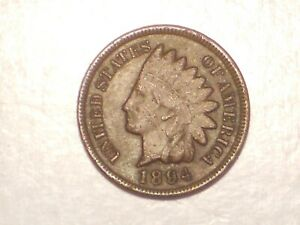 1894 INDIAN HEAD CENT  VF BETTER DATE & ATTRACTIVE