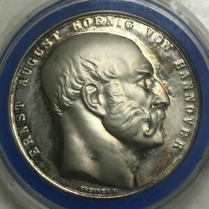 Click now to see the BUY IT NOW Price! 1861 GERMANY HANNOVER SILVER MEDAL   WURZBACH 1861 AG