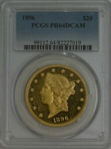 Click now to see the BUY IT NOW Price! 1896 $20 GOLD LIBERTY PR64DCAM PCGS 944421 11
