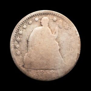 1858 SEATED LIBERTY HALF DIME AG CONDITION WELL WORN EARLY US SILVER 14