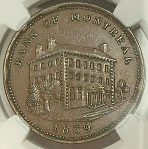 Click now to see the BUY IT NOW Price! CANADA PENNY TOKEN1839 LC 11B BANK OF MONTREAL   NGC AU 53 BN