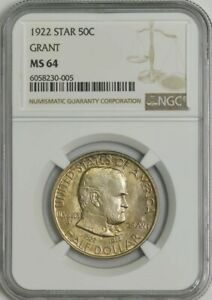 Click now to see the BUY IT NOW Price! 1922 GRANT STAR HALF 50C MS64 NGC 943981 25