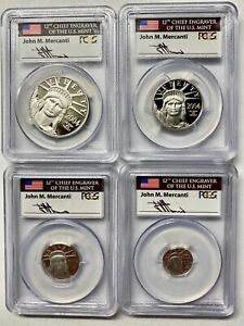 Click now to see the BUY IT NOW Price! 2004 W PLATINUM AMERICAN EAGLE 4 COIN SET PCGS PR70 DCAM MERCANTI