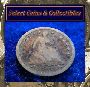 1854 SILVER SEATED HALF DIME STARS OBVERSE ARROWS AT DATE ESTATE SALE FIND 1102