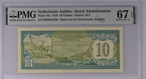 Click now to see the BUY IT NOW Price! 1979 NETHERLANDS ANTILLES 10 GULDEN   PICK 16A   PMG 67 EPQ SUPERB GEM