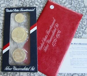 40  SILVER UNCIRCULATED MINT SET   DATED 1776 1976 US BICENTENNIAL ISSUED 54