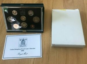Click now to see the BUY IT NOW Price! 1986 GREAT BRITAIN PROOF SET   ORIGINAL PACKAGING WITH COA
