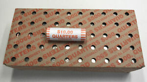 Click now to see the BUY IT NOW Price!  2  QUARTER BANK BOXES  100  ROLLS  $1 000 FV  SEALED & CIRCULATED N.F STRING
