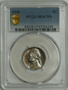 Click now to see the BUY IT NOW Price! 1946 JEFFERSON NICKEL 5C MS67 FS SECURE PCGS 944638 3