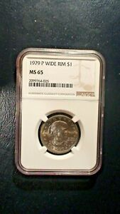 1979 P SUSAN B ANTHONY NGC MS65 GEM UNCIRCULATED $1 COIN BUY IT NOW