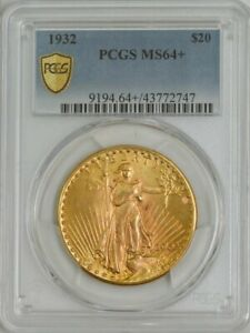 1932 $20 GOLD ST. GAUDENS MS64  PCGS SECURE 944293 2