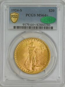 1924 S $20 GOLD ST. GAUDENS MS64  PCGS SECURE CAC 942652 11