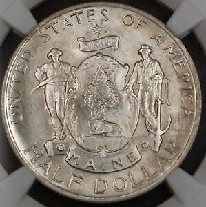Click now to see the BUY IT NOW Price! 1920 MAINE COMMEMORATIVE SILVER HALF DOLLAR NGC MS 65
