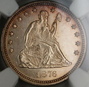 Click now to see the BUY IT NOW Price! 1876 CC SEATED LIBERTY QUARTER 25C NGC UNC DETAILS CHOICE BU PL OBVERSE