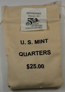 Click now to see the BUY IT NOW Price! $25 US MINT SEWN BU 2002 D TENNESSEE STATE QUARTERS BAG IN ORIGINAL PACKAGING