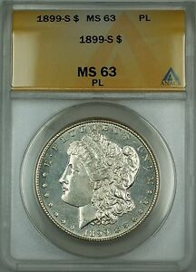 Click now to see the BUY IT NOW Price! 1899 S MORGAN SILVER DOLLAR $1 ANACS MS 63 PL  DMPL BETTER COIN