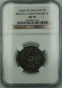 Click now to see the BUY IT NOW Price!  1464 70  ENGLAND BRISTOL SILVER GROAT 4P COIN S 2004 EDWARD IV NGC AU 50 AKR