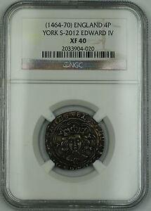 Click now to see the BUY IT NOW Price!  1464 70  ENGLAND SILVER GROAT FOURPENCE 4P COIN S 2012 EDWARD IV NGC XF 40 AKR