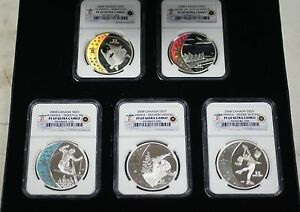 Click now to see the BUY IT NOW Price! 2008 CANADA HOLOGRAM COINS 5 SILVER $25 NGC PR 69 SET OLYMPIC ROYAL MINT