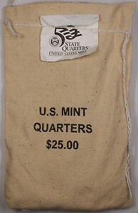 Click now to see the BUY IT NOW Price! $25  100 UNC COINS  2004 FLORIDA   P STATE QUARTER ORIGINAL MINT SEWN BAG