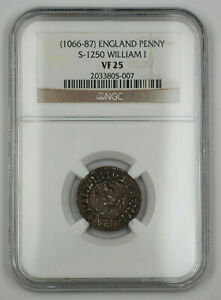 Click now to see the BUY IT NOW Price! 1066 87 ENGLAND ONE PENNY SILVER COIN S 1250 WILLIAM I NGC VF 25 AKR
