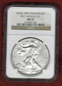 Click now to see the BUY IT NOW Price! 2011 W SILVER EAGLE  UNCIRCULATED NGC GRADED MS70 FROM 25TH ANNIVERSARY SET