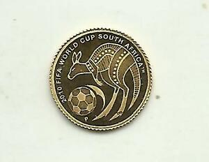 AUSTRALIA 2$  2010 SOUTH AFRICA WORLD CUP.. GOLD COIN PROOF UNC. 3RW 7JUL