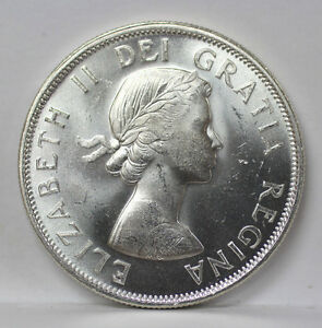 Click now to see the BUY IT NOW Price! 1954 CANADA SILVER HALF DOLLAR KM53 ELIZABETH II   CH BU 01093838G