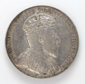 Click now to see the BUY IT NOW Price! 1907 CANADA SILVER HALF DOLLAR EDWARD VII KM12   91058H