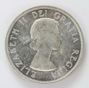Click now to see the BUY IT NOW Price! 1954 CANADA SILVER HALF DOLLAR ELIZABETH II KM53   CH BU 01283499G