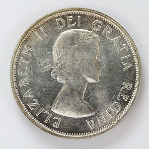 Click now to see the BUY IT NOW Price! 1954 CANADA SILVER HALF DOLLAR ELIZABETH II KM53   CH BU 01283498G